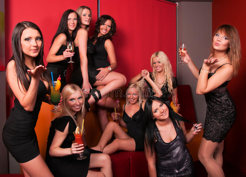 Photo Of Joyful Beautiful Friends On The Party Royalty Free Stock Image