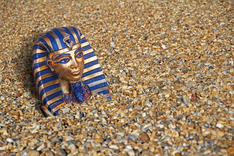 Sunken buried ancient treasure king tut egypt stock images