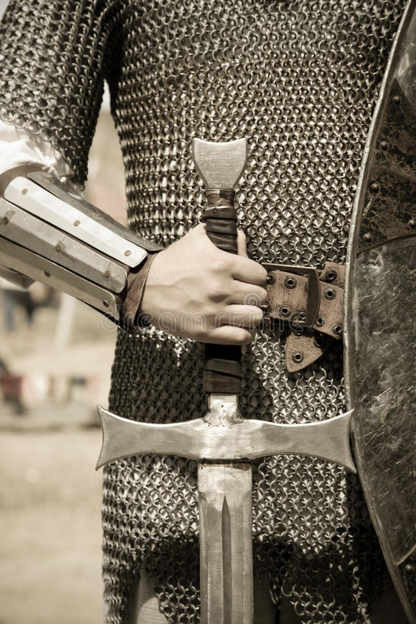 Photo of knight in vintage style royalty free stock photography