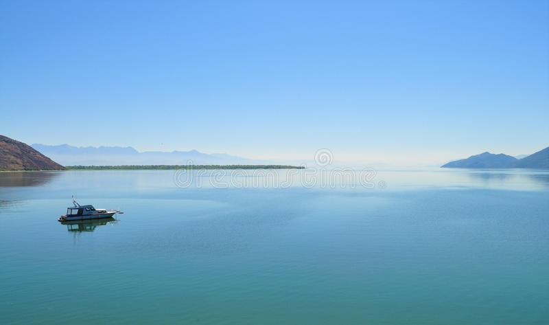 The Lake and the horizon - Lake Skadar stock image