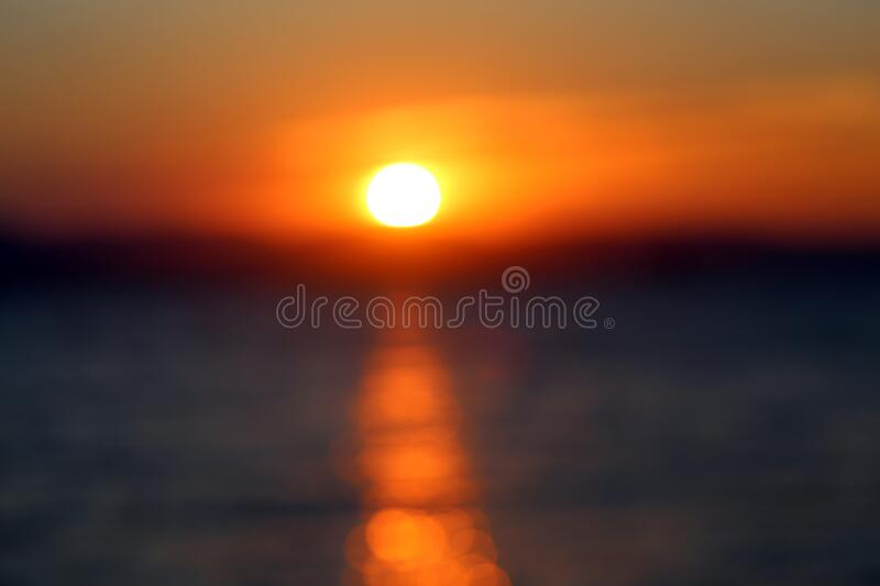 Photo landscape sunset on the sea stock images