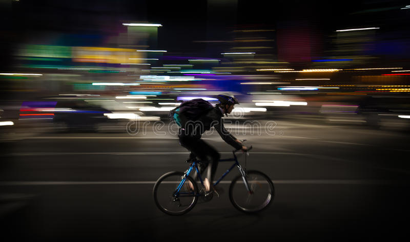 Photo Lapse Photo of Man Riding a Road Bicycle royalty free stock photo