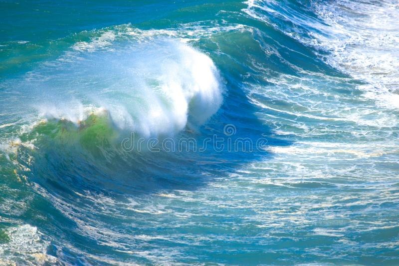 Large wave cresting royalty free stock photography