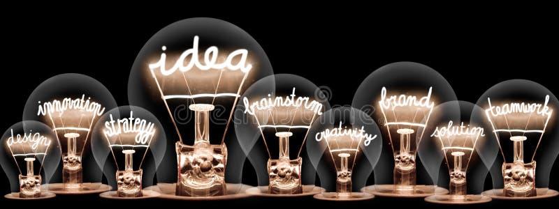 Light Bulbs with Idea Concept stock photography