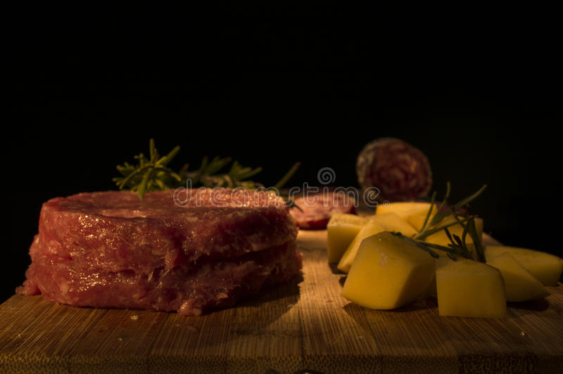 Photo in light painting of food stock image