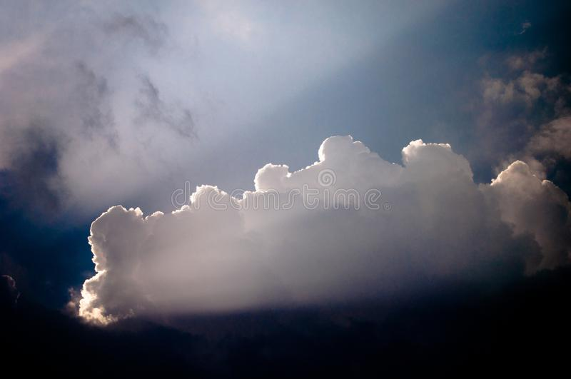 Light of the Sun on the clouds royalty free stock photos