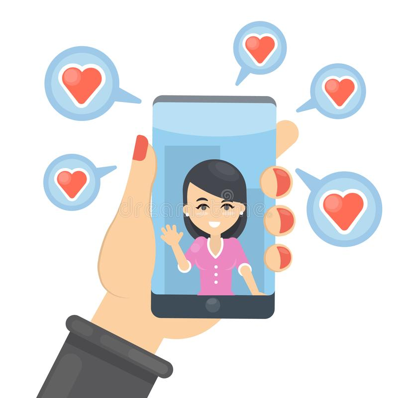 Photo with likes. vector illustration
