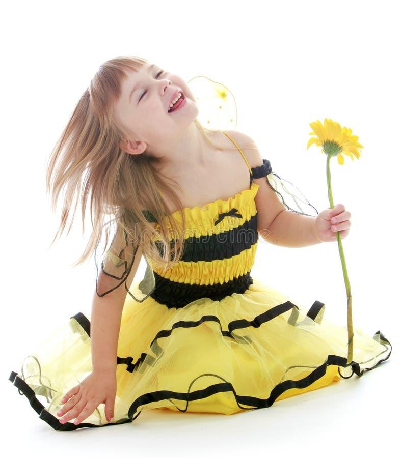 Photo of the little girl. stock photos