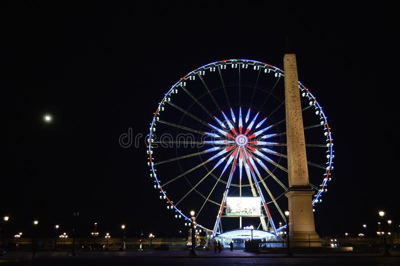 Photo of London Eye, London Near Brown Concrete Monument during Night Time stock image