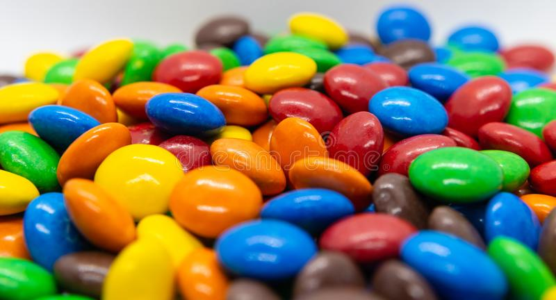 Coloured sweet candy. Photo of lots of coloured sweet candy for commercials royalty free stock image