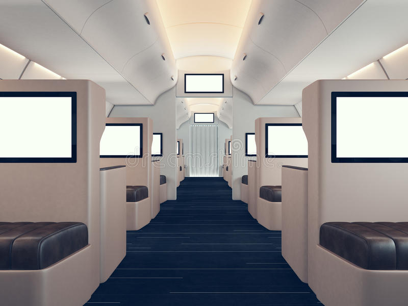 Airplane Interior Stock Illustrations – 2,199 Airplane