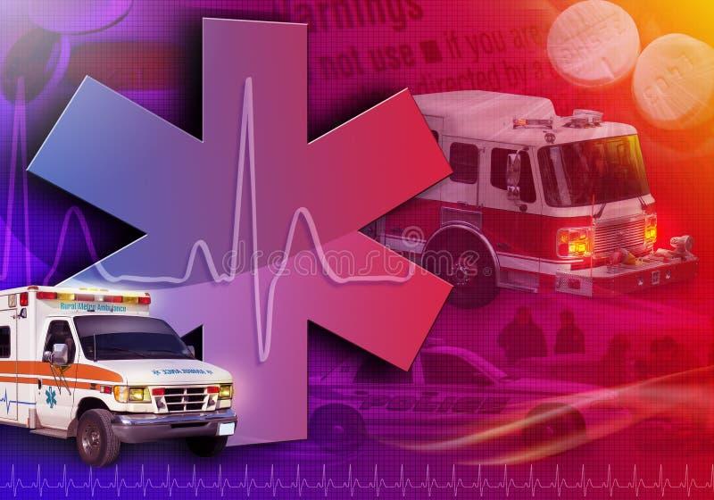 Photo médicale d'abrégé sur ambulance de sauvetage illustration libre de droits