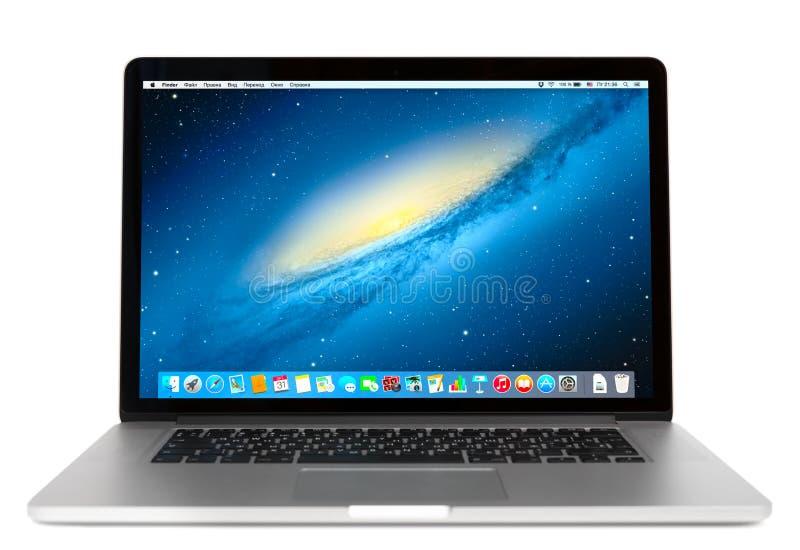 Photo of Macbook pro royalty free stock photos