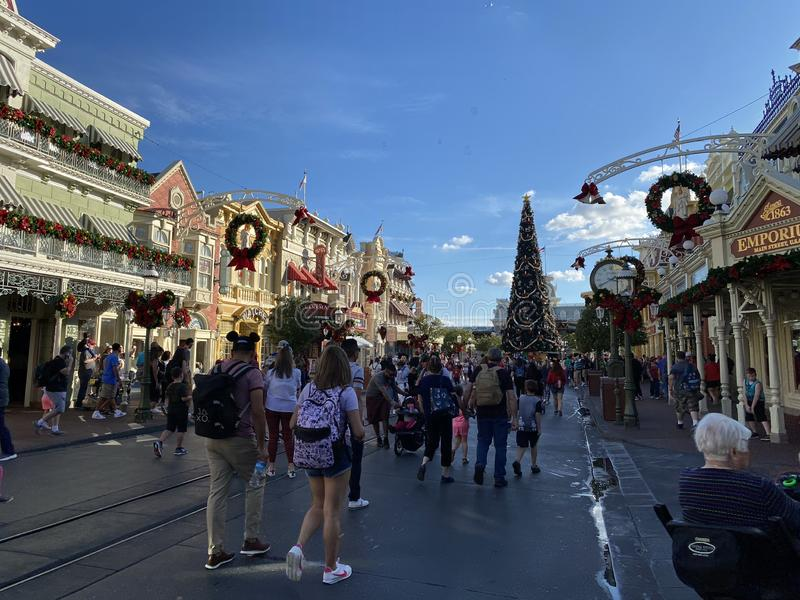 Photo Magic Kingdom Disney World Orlando Floride vers décembre 2019 photographie stock