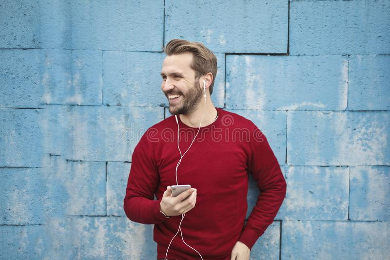 Photo Of A Man Listening Music On His Phone Free Public Domain Cc0 Image