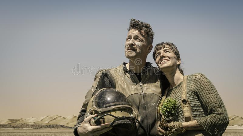 Photo of Man and Woman Looking at the Sky royalty free stock image