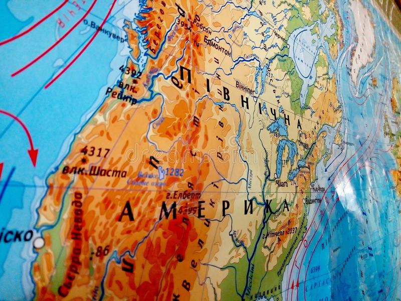 Photo of map of america stock photography