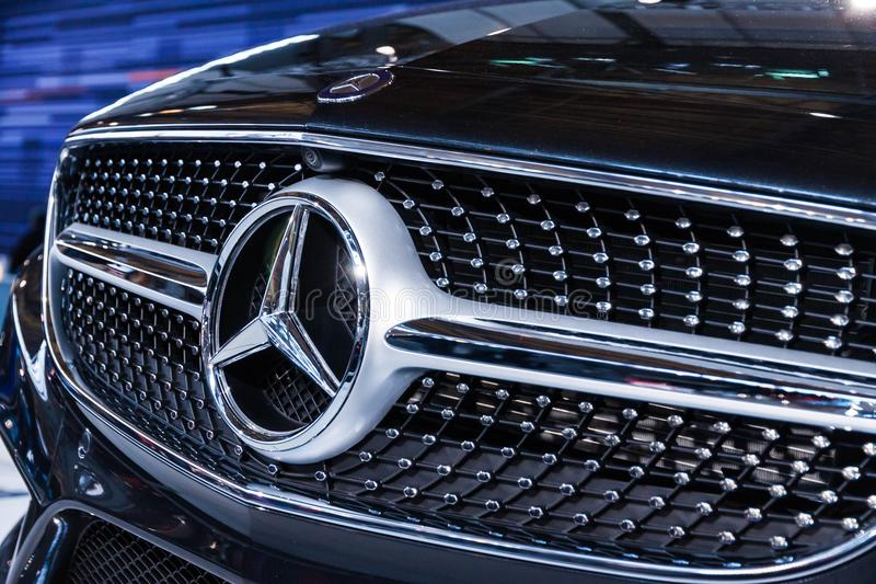 Photo of Mercedes-benz Grille stock image