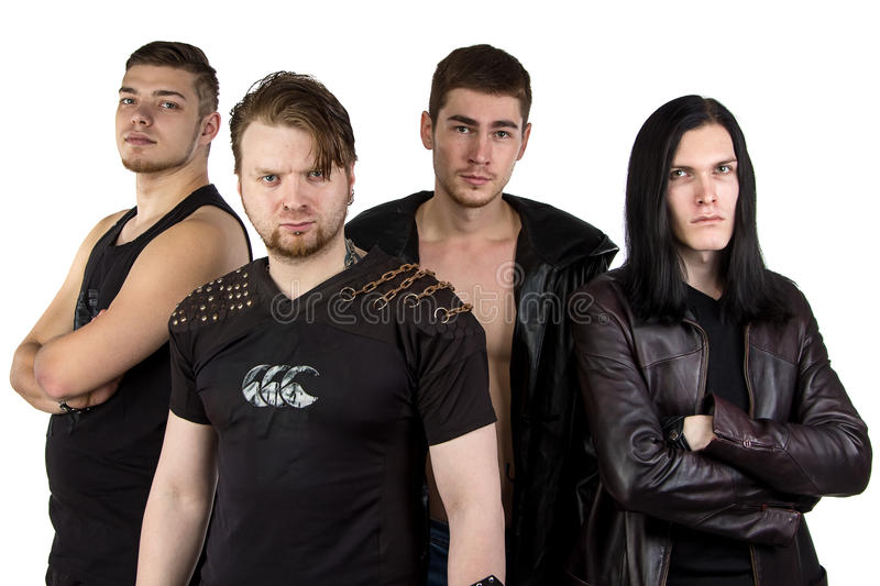 Photo of the metal band. On white background royalty free stock photography