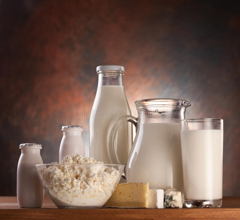 Photo of milk products. royalty free stock photography