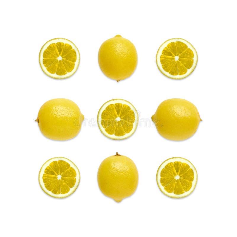 Lemon Top view stock images