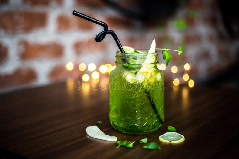Mouth-warming mojito stock images