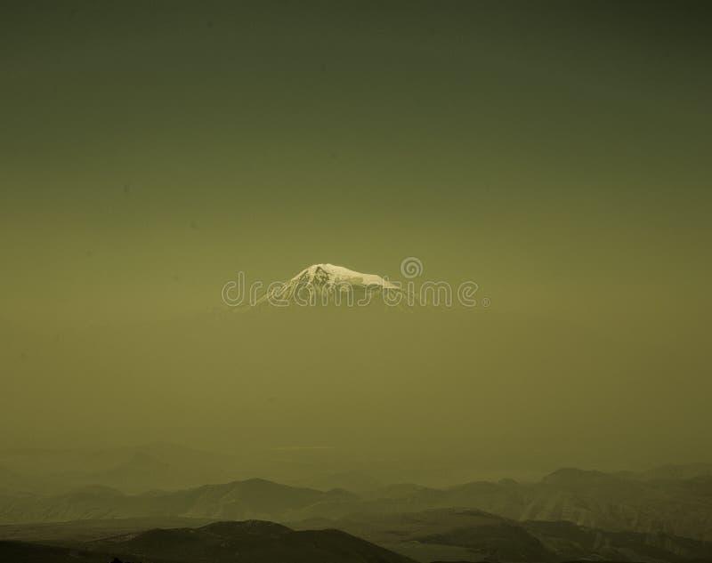 Ararat mountain from afar stock images