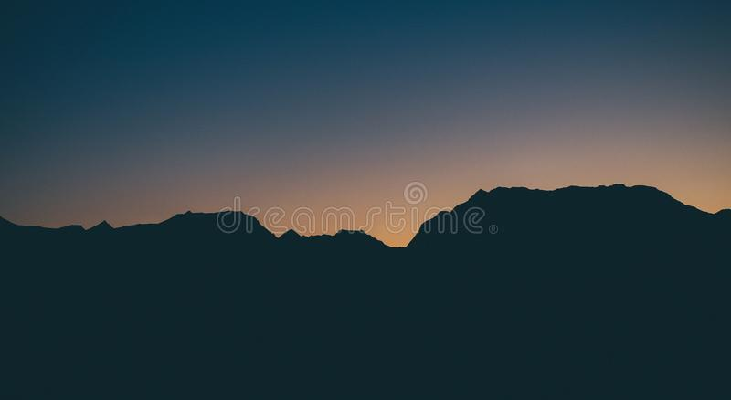 Photo of Mountain Silhouette stock photography