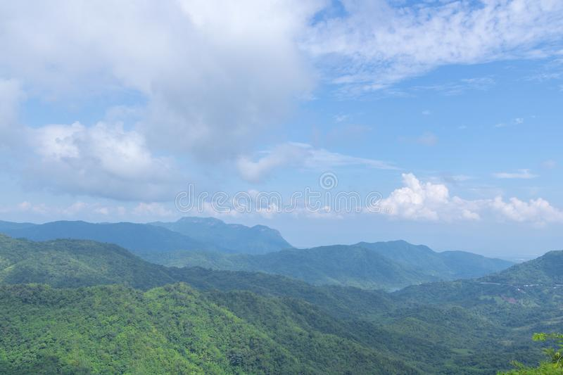 Green mountains and blusky stock image