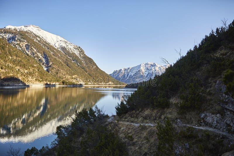 Mountain and lake at Achensee Lake in Austria – Stockfoto royalty free stock image