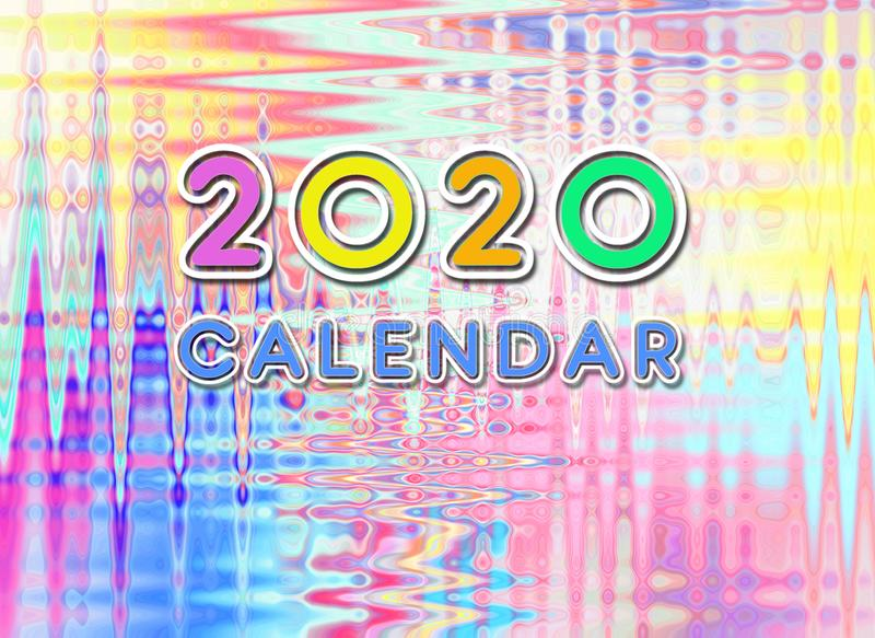 2020 year calendar diary yearly months monthly month years front page design vector illustration
