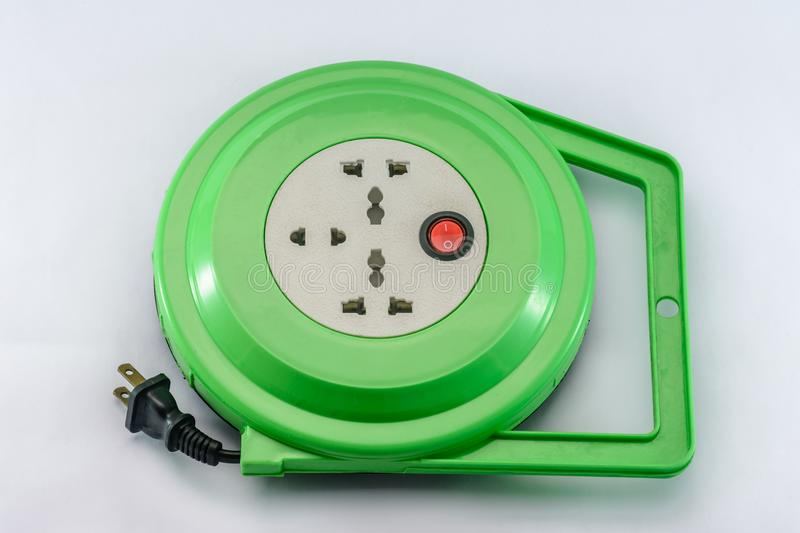 photo of multi socket power extension stock images