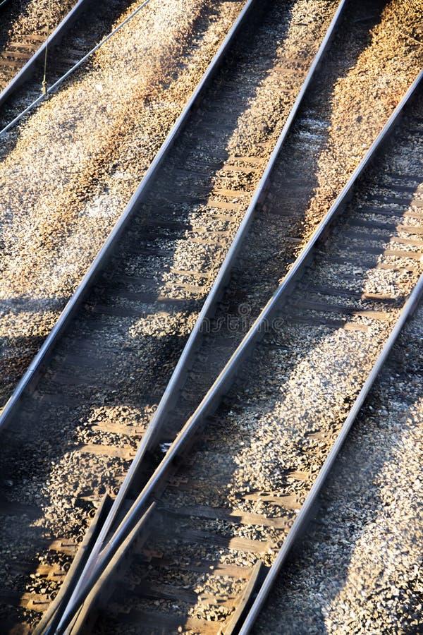 Multiple railroad tracks stock image