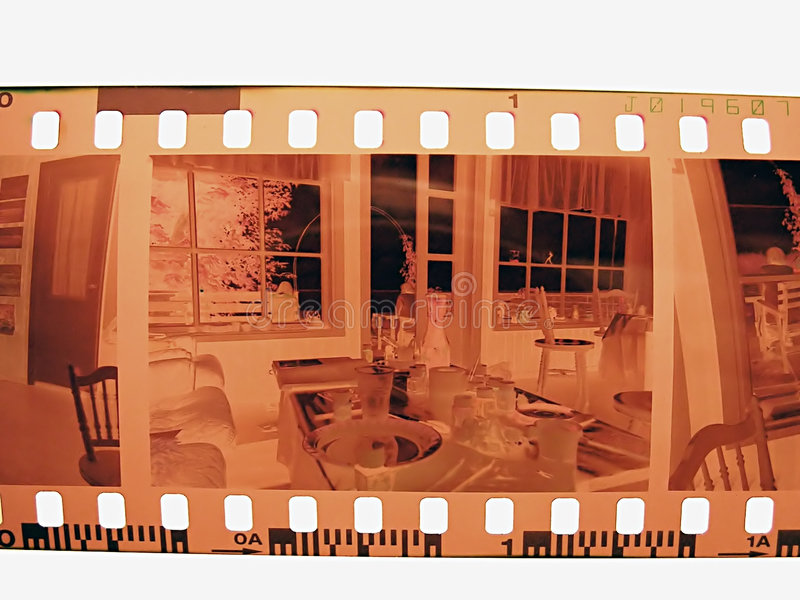 Photo negative. Frame of 35mm film negative, one frame in the middle, can replace with own picture stock photos