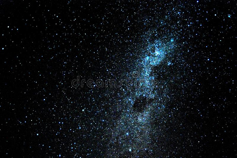 Night sky full of stars stock image