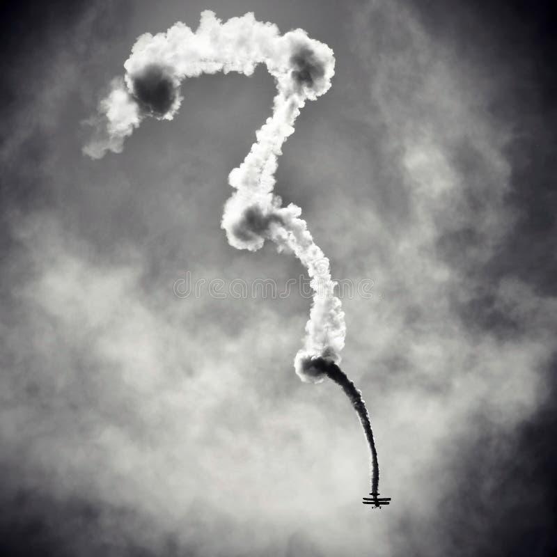 Photo noire et blanche d'un avion sur l'airshow images libres de droits