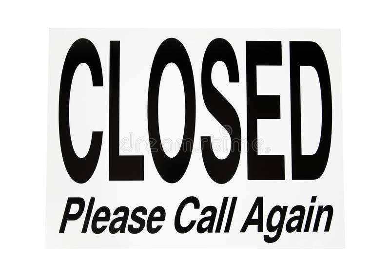 Download Photo Object - Closed Sign stock image. Image of retail - 13282423