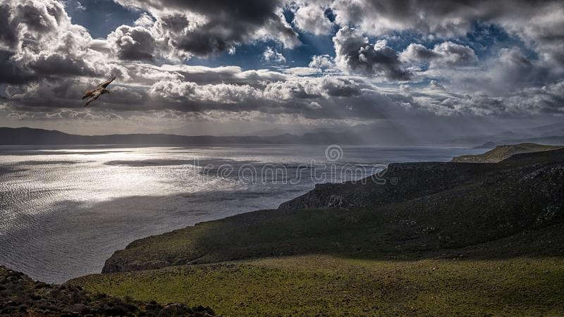 Photo of Ocean Under Cloudy Sky royalty free stock photography