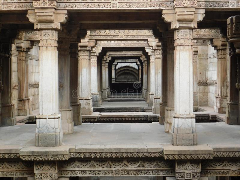 Adalaj step well, Ahmedabad 1 royalty free stock image
