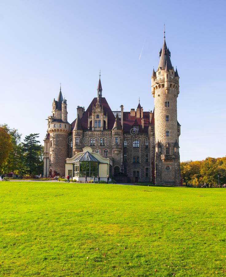 Moszna castle royalty free stock images