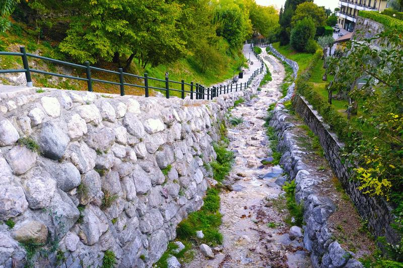 Stone road and old lade royalty free stock image