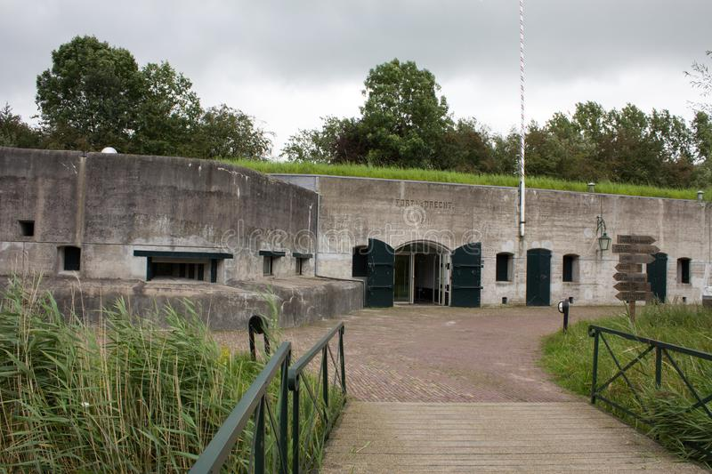 A old Dutch fort in the west of the Netherlands royalty free stock image