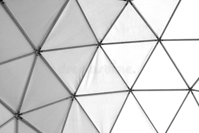 Photo of old geometric triangles white and black stock photo