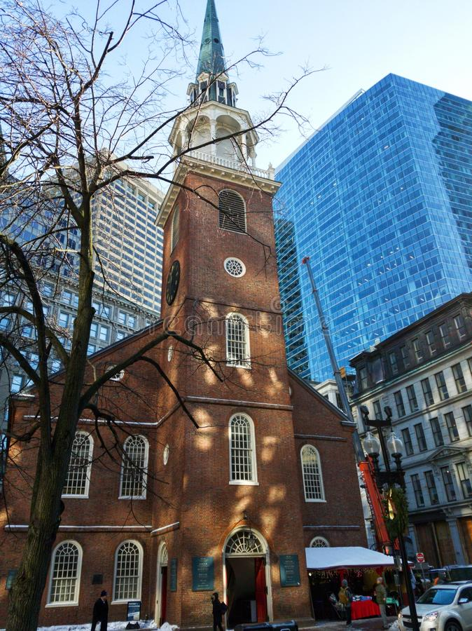 Old South Meeting House in Boston stock photography