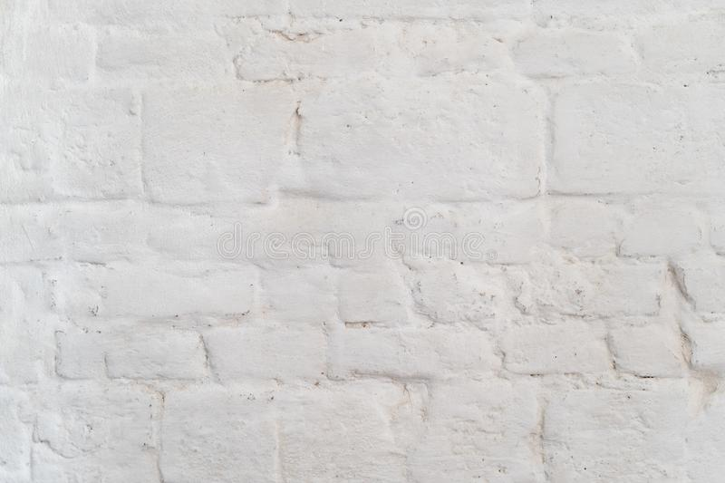 Photo of old white brick wall texture stock photography