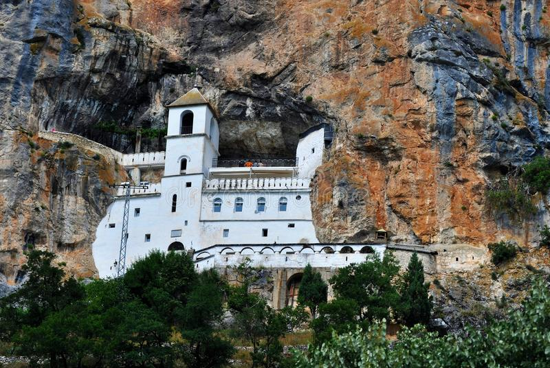 Ostrog monastery - valley of Bjelopavlici stock images