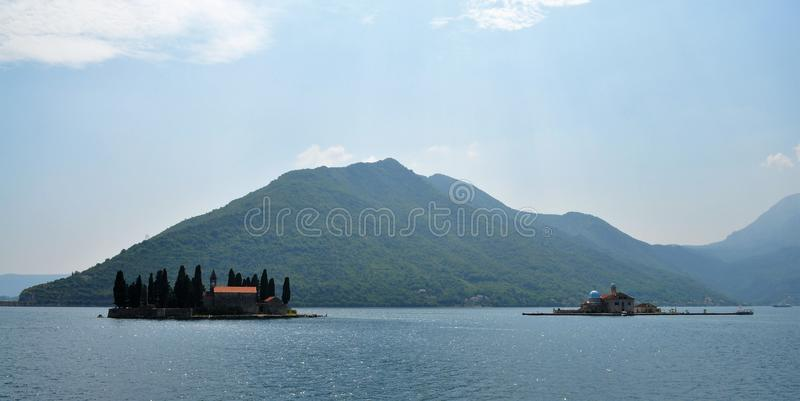 The two neighboring islands in the Adriatic Sea stock photography