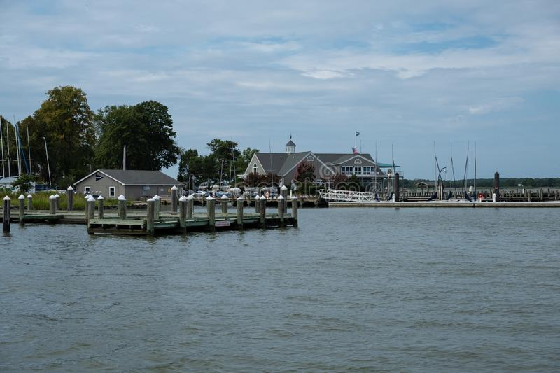 Oxford Harbour. USA. Photo of Oxford Harbour on Choptank River in Maryland, United States of America royalty free stock photography