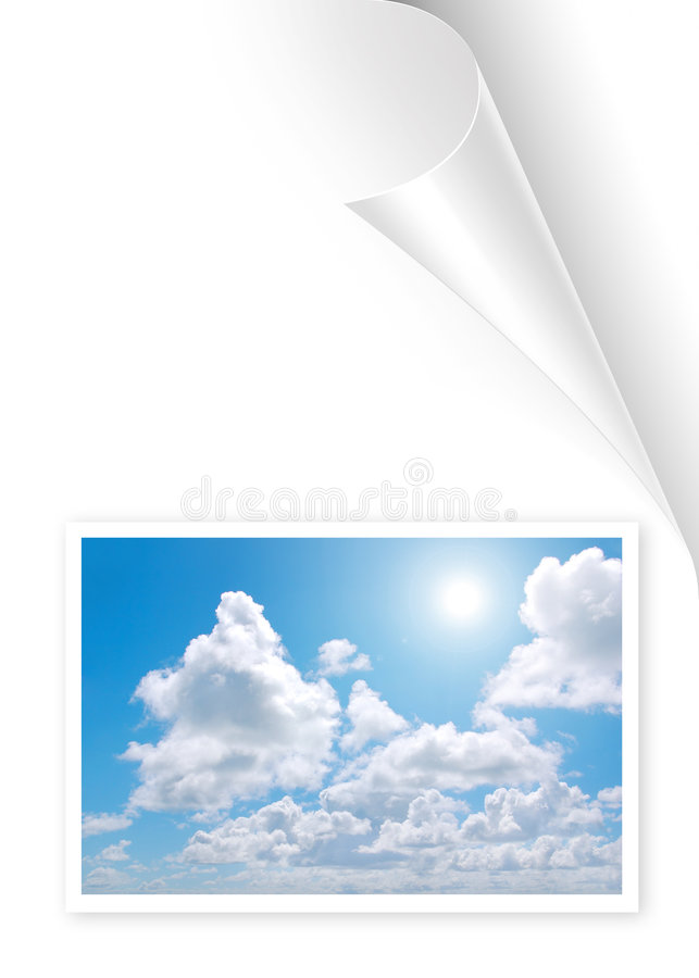 Photo Page vector illustration