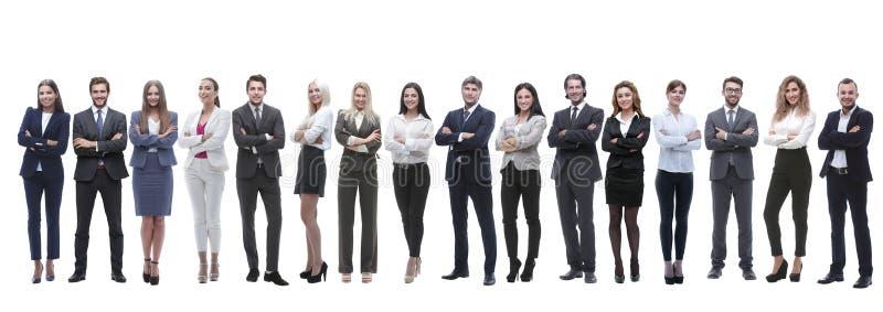 Photo panoramique d'une équipe d'importante affaire se tenant ensemble images stock